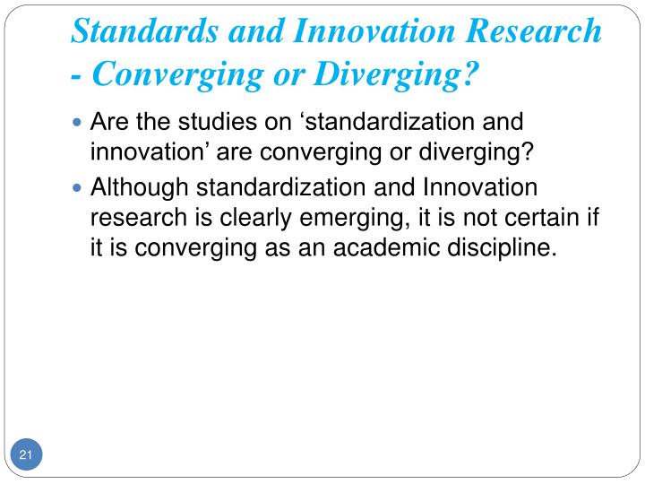 Standards and Innovation Research