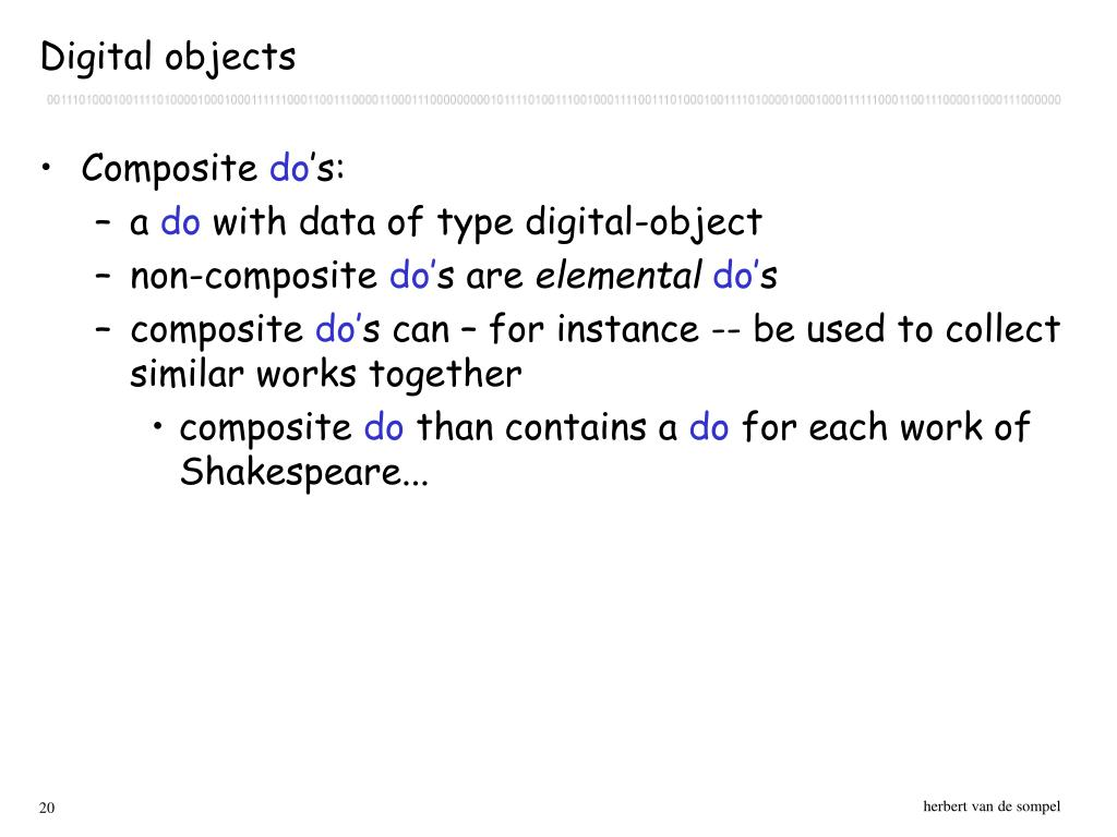 Digital objects
