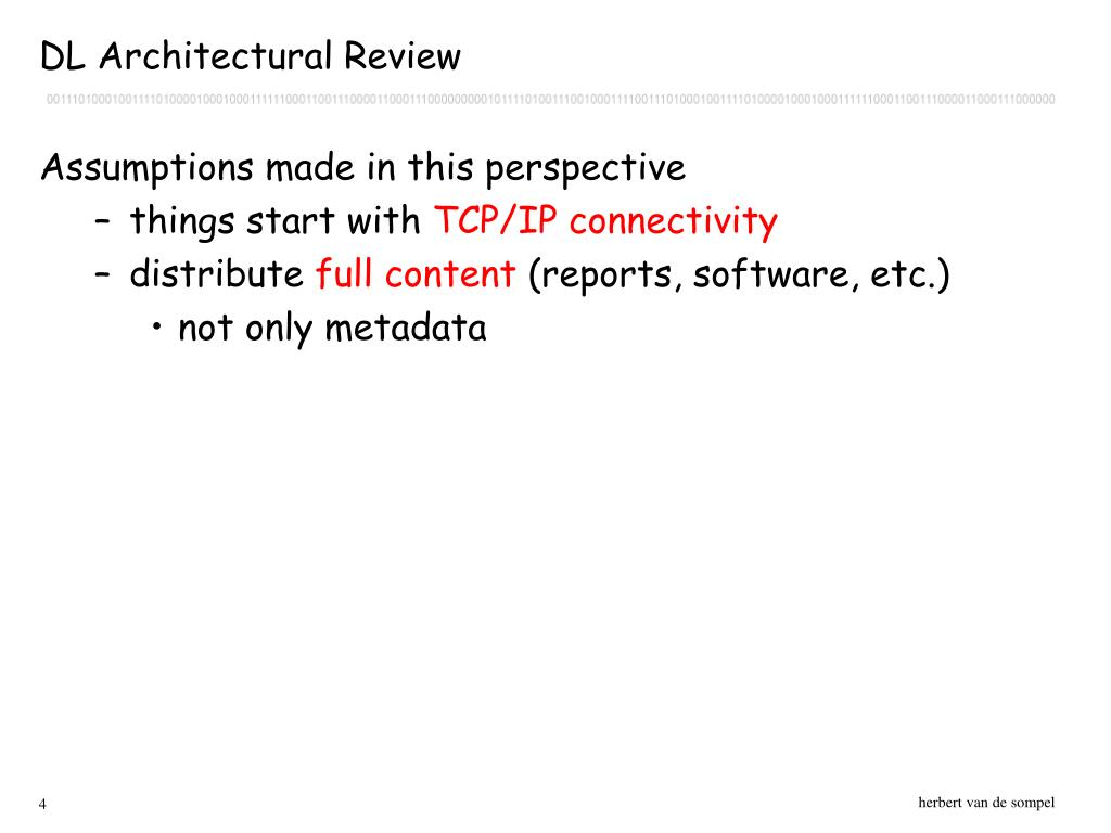 DL Architectural Review