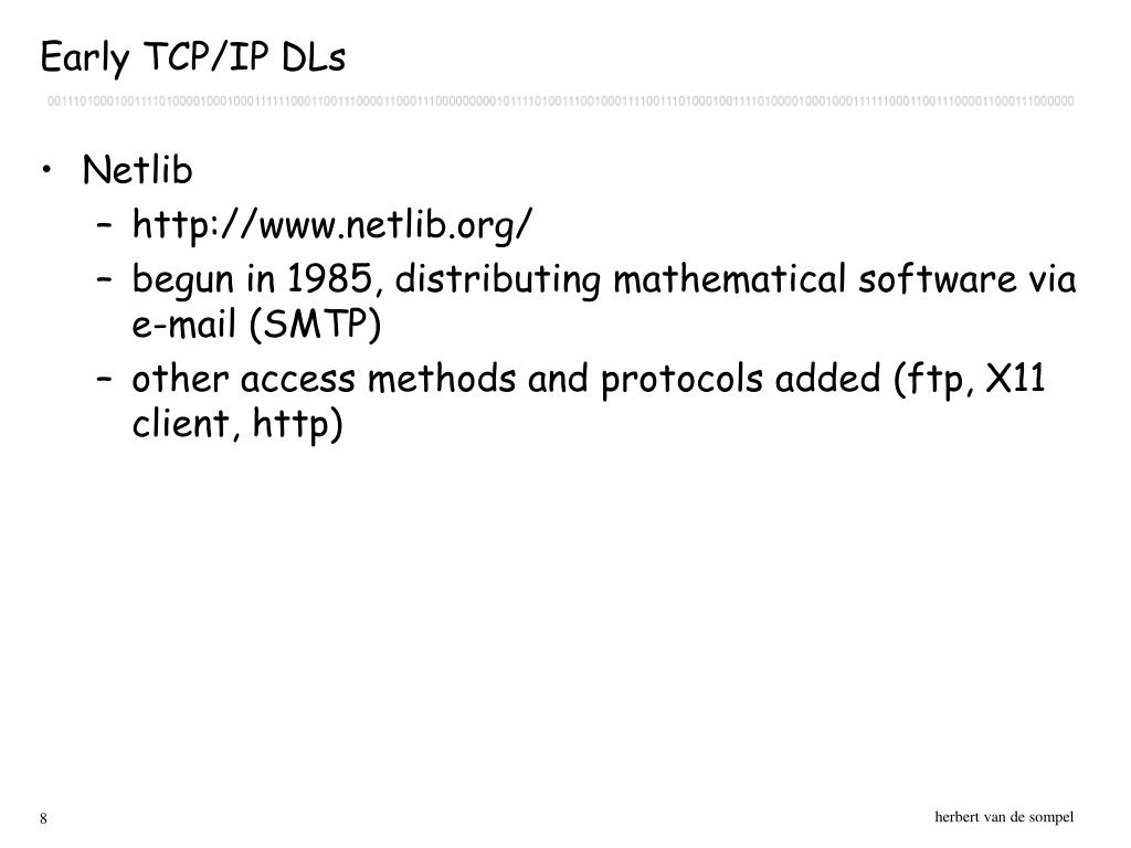 Early TCP/IP DLs