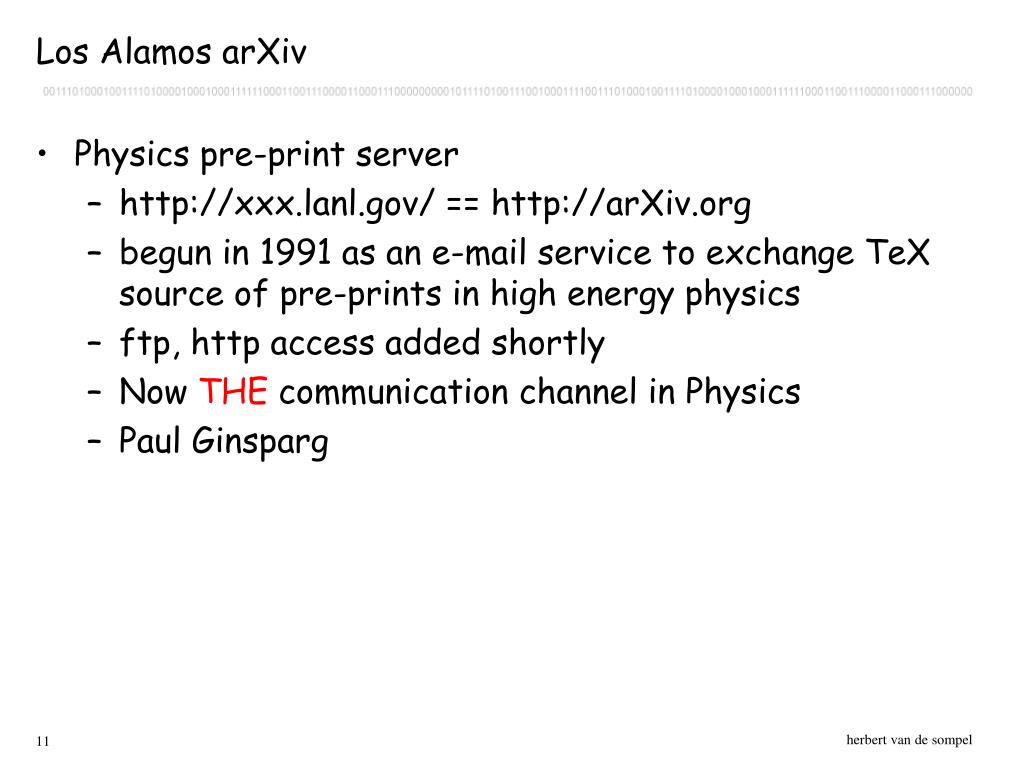 Los Alamos arXiv