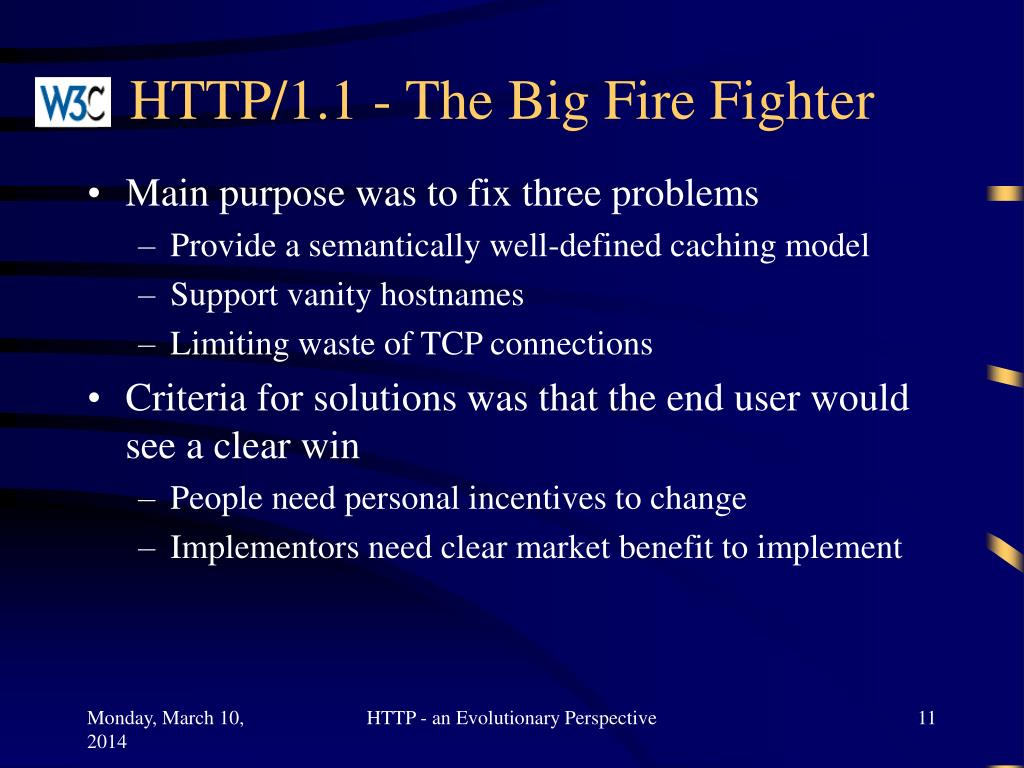 HTTP/1.1 - The Big Fire Fighter