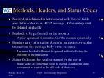 methods headers and status codes