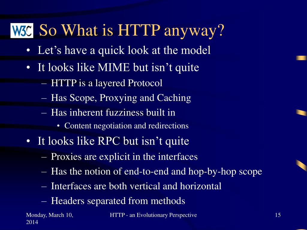 So What is HTTP anyway?