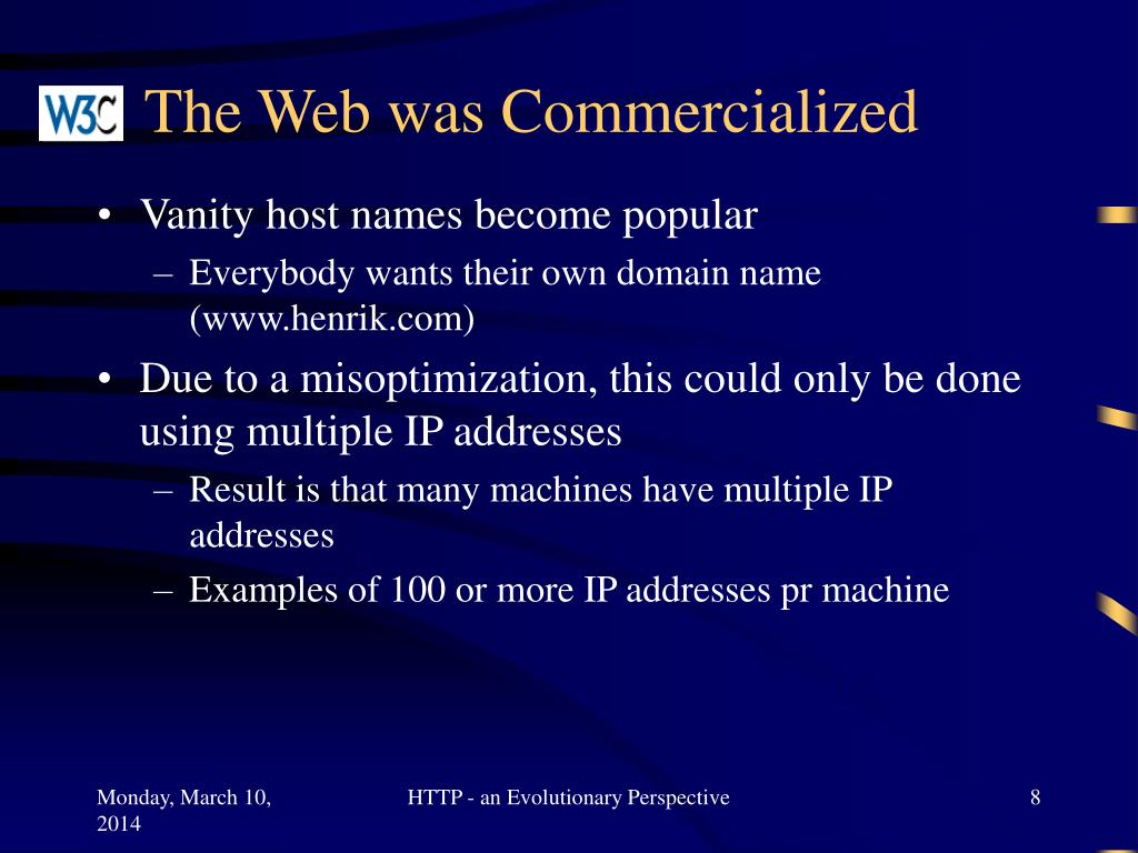 The Web was Commercialized