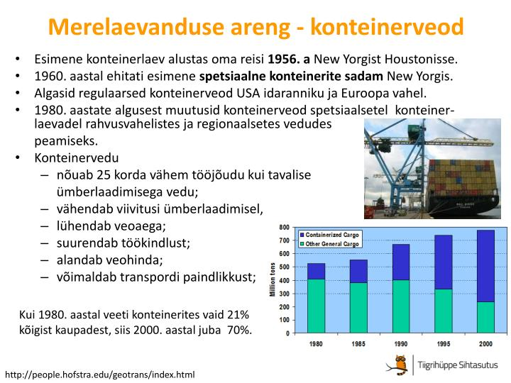 Merelaevanduse areng - konteinerveod