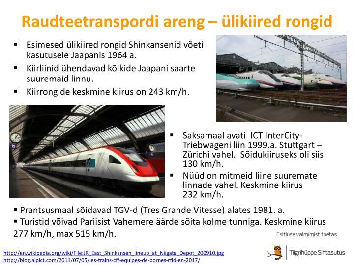 Raudteetranspordi areng – ülikiired rongid