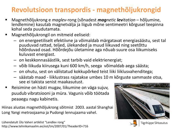 Revolutsioon transpordis