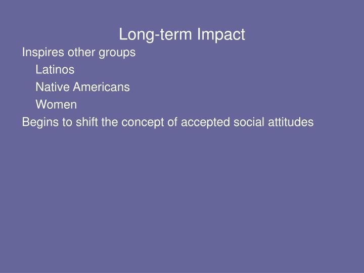 Long-term Impact
