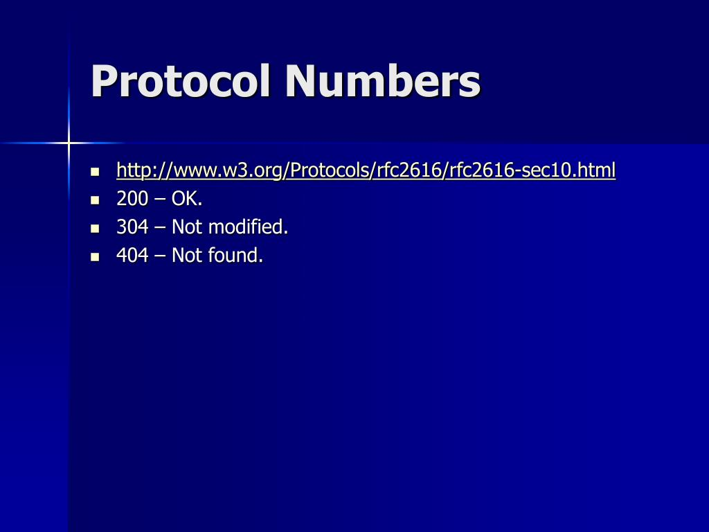 Protocol Numbers