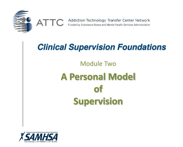 Clinical supervision foundations