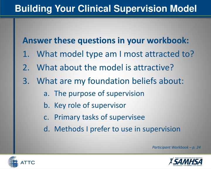 Building Your Clinical Supervision Model