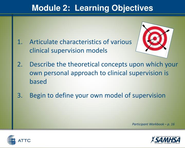 Module 2:  Learning Objectives
