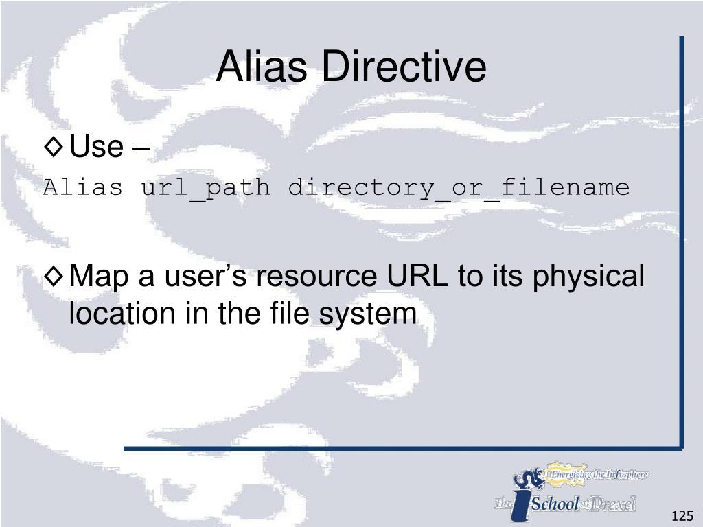 Alias Directive