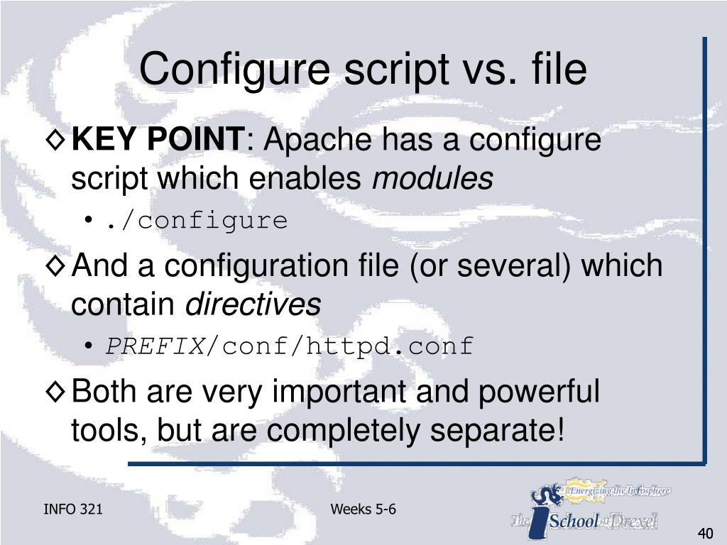 Configure script vs. file