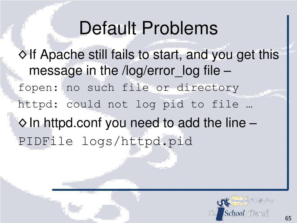 Default Problems