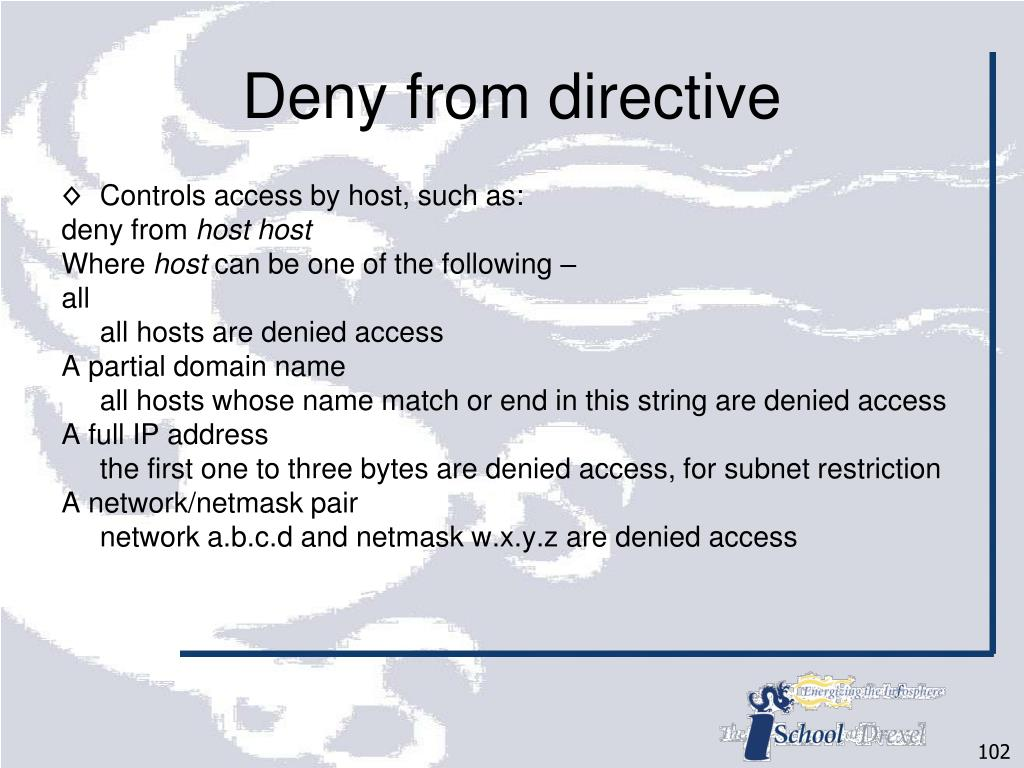 Deny from directive