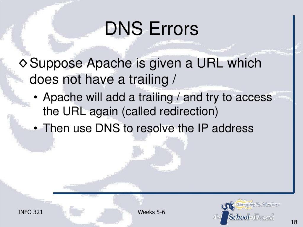 DNS Errors