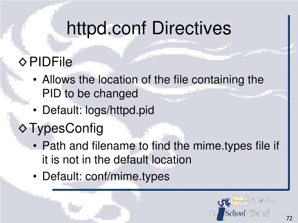httpd.conf Directives
