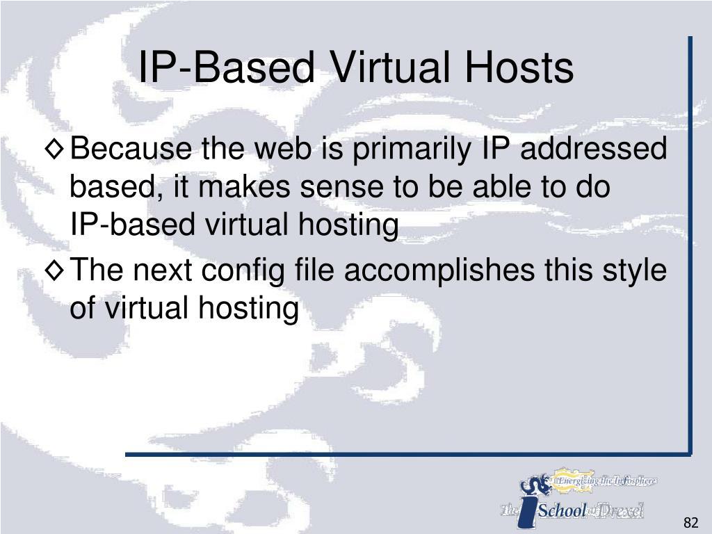 IP-Based Virtual Hosts