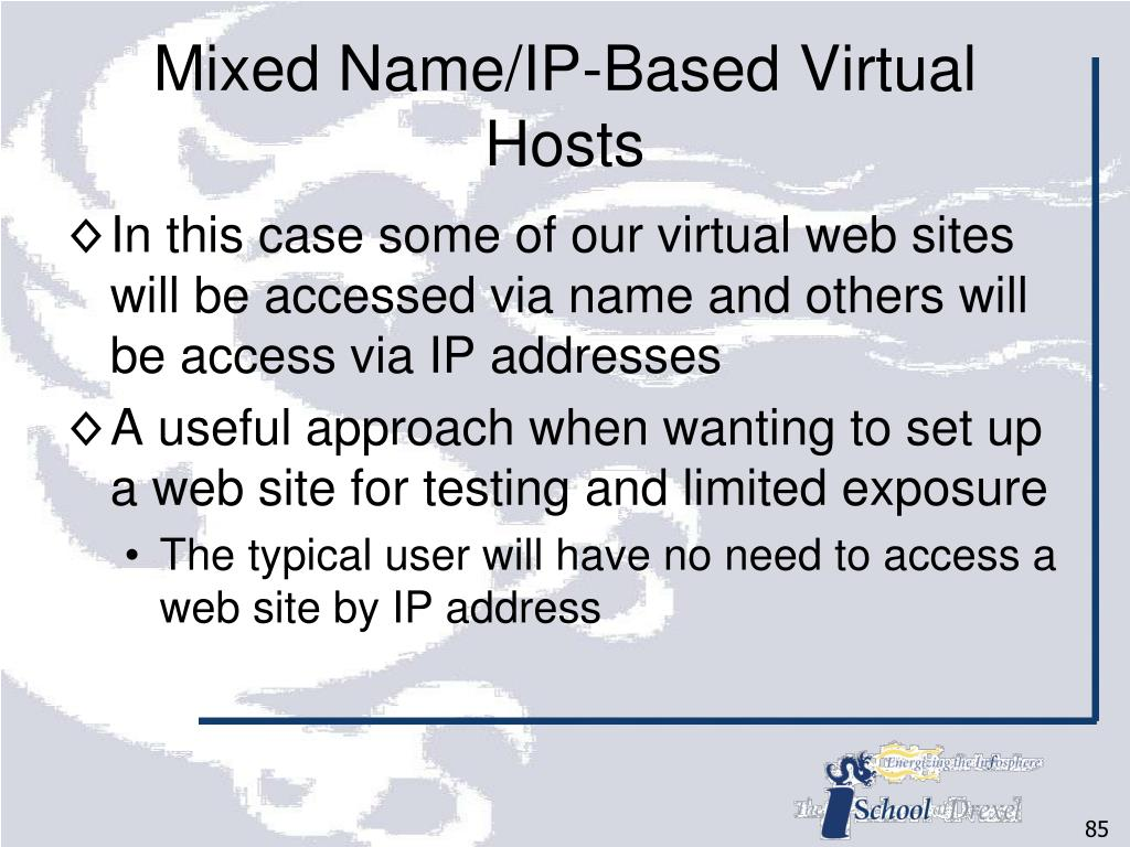 Mixed Name/IP-Based Virtual Hosts