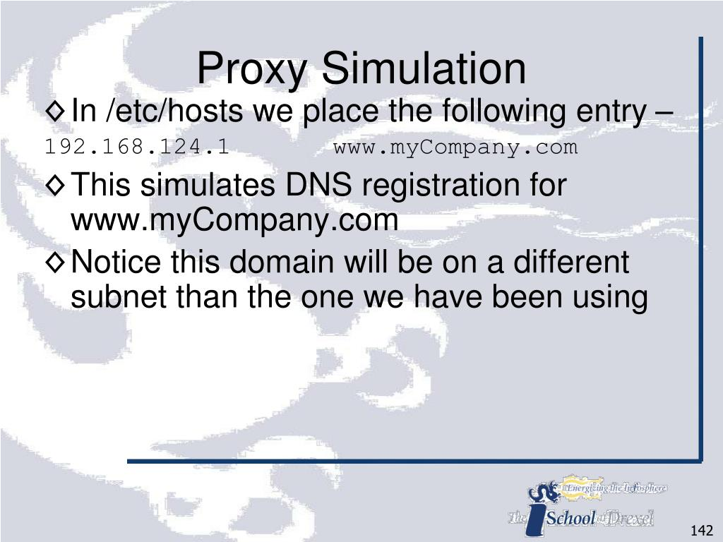 Proxy Simulation