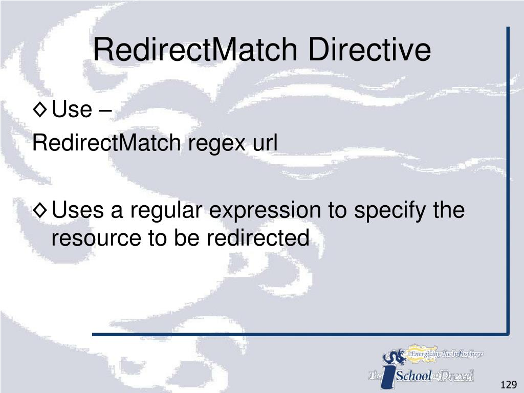 RedirectMatch Directive