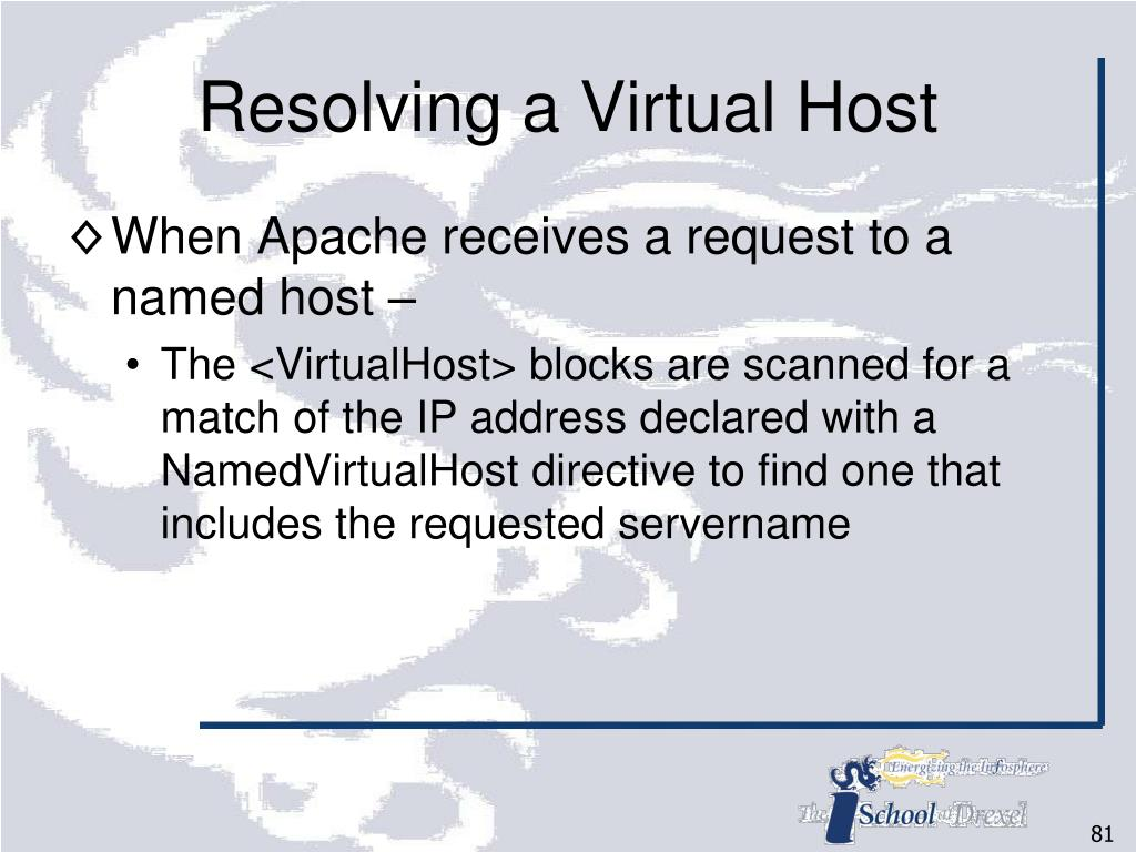 Resolving a Virtual Host