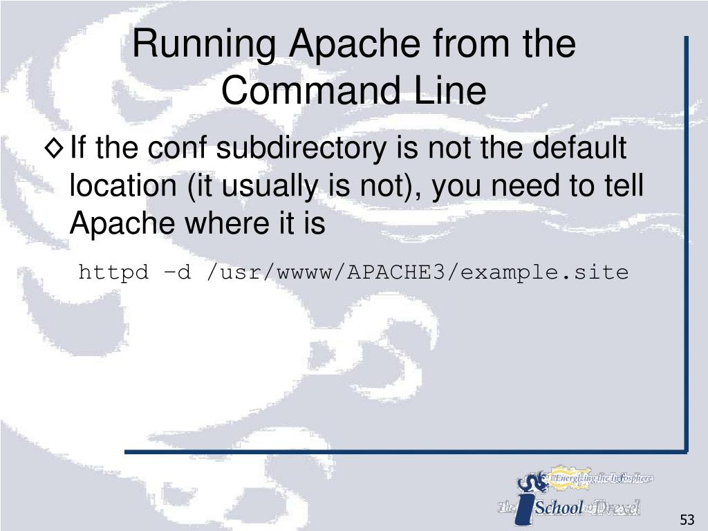 Running Apache from the Command Line