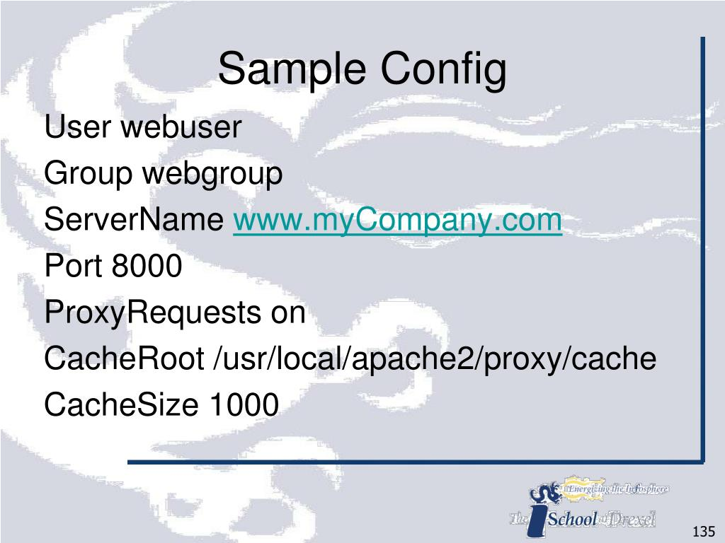Sample Config