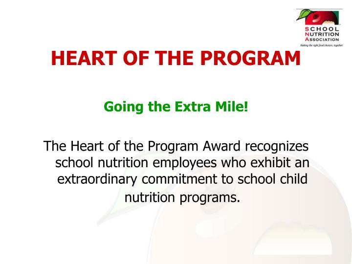 HEART OF THE PROGRAM