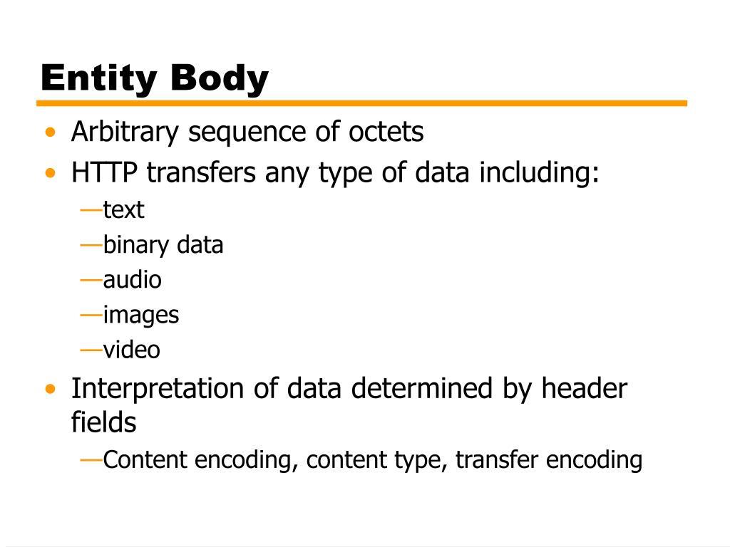 Entity Body