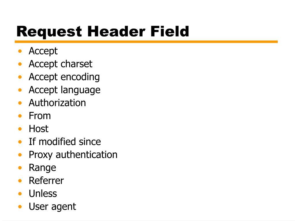 Request Header Field