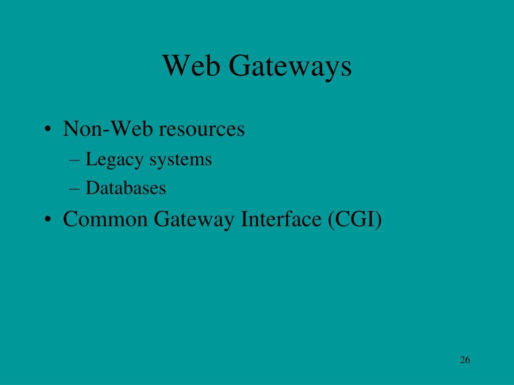 Web Gateways