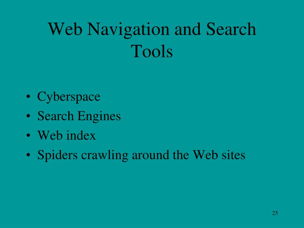 Web Navigation and Search Tools