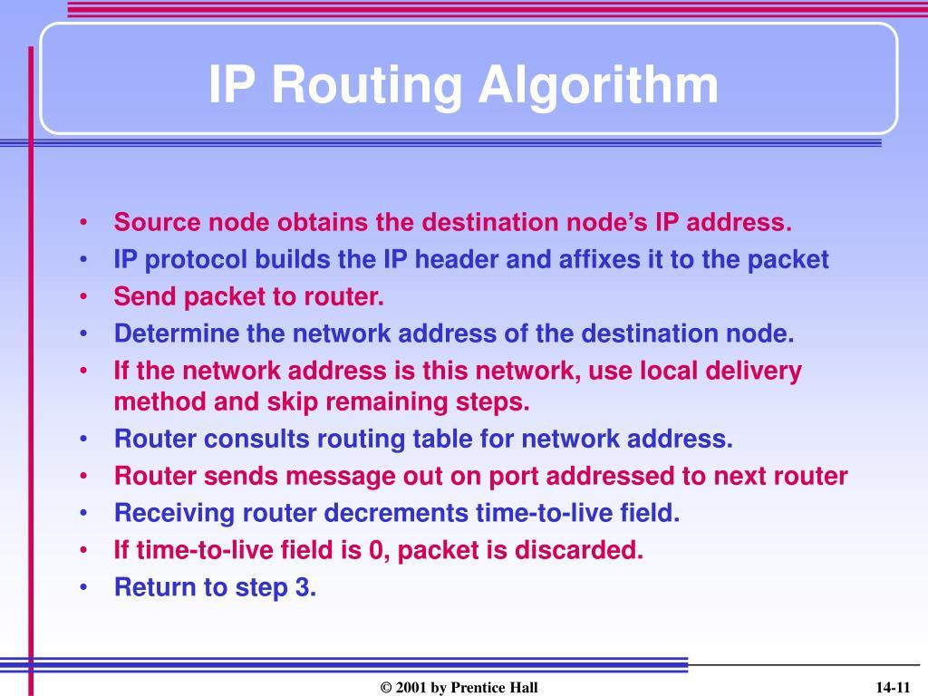 IP Routing Algorithm