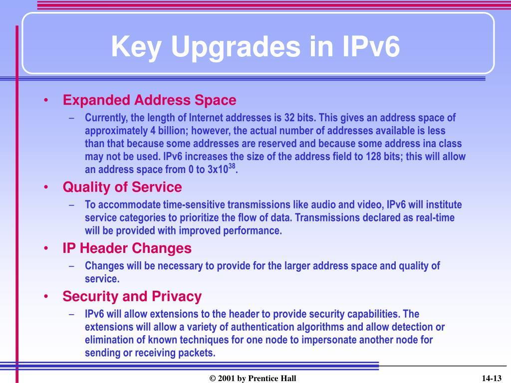 Key Upgrades in IPv6