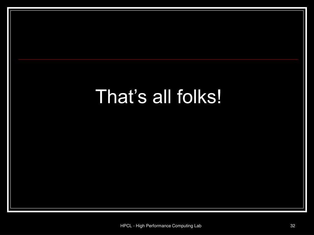 That's all folks!