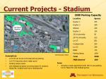 current projects stadium