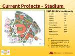 current projects stadium20