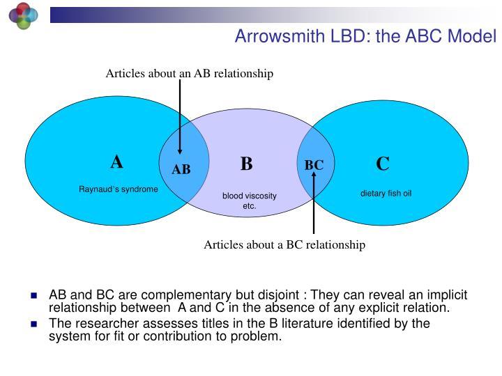Arrowsmith LBD: the ABC Model