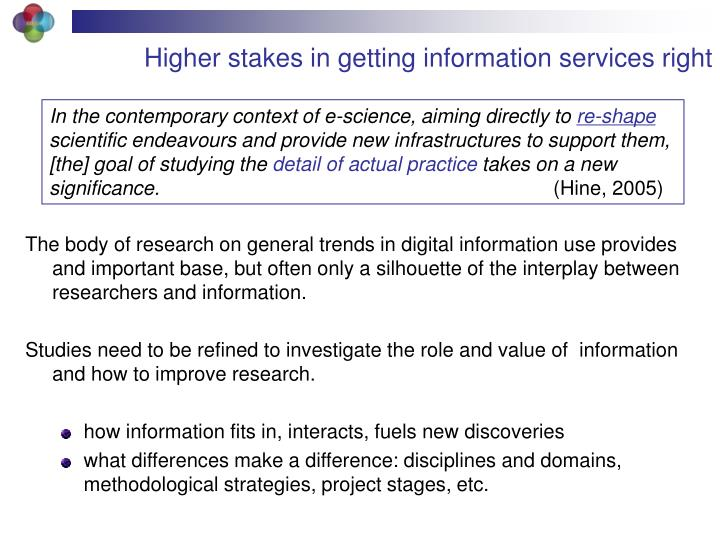 Higher stakes in getting information services right