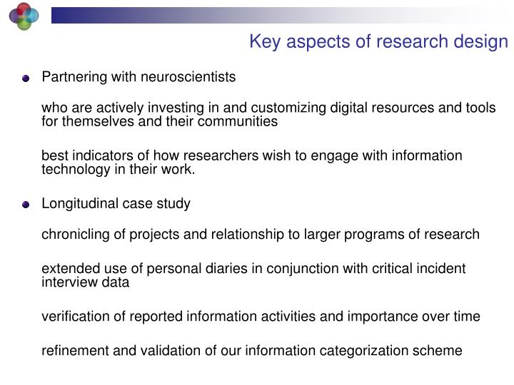 Key aspects of research design