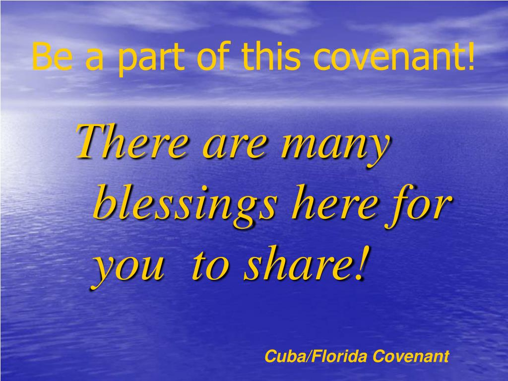 Be a part of this covenant!