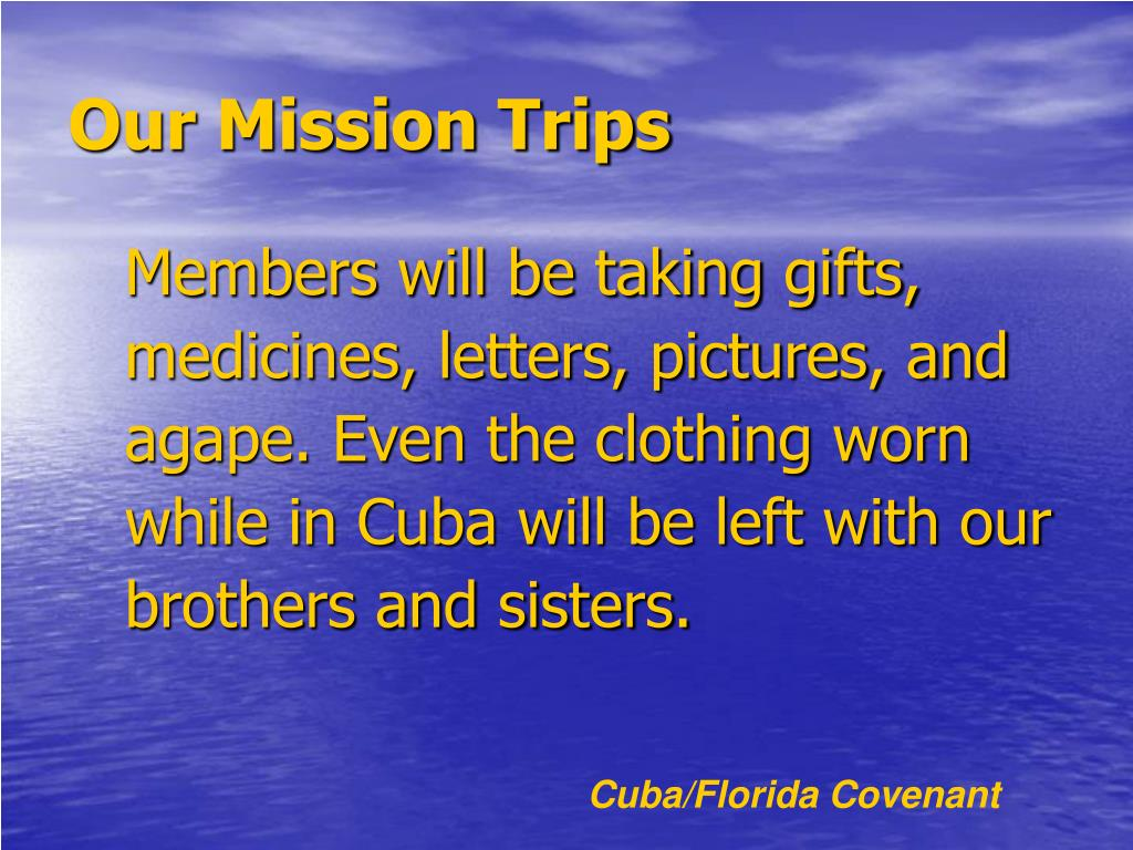 Our Mission Trips