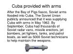cuba provided with arms