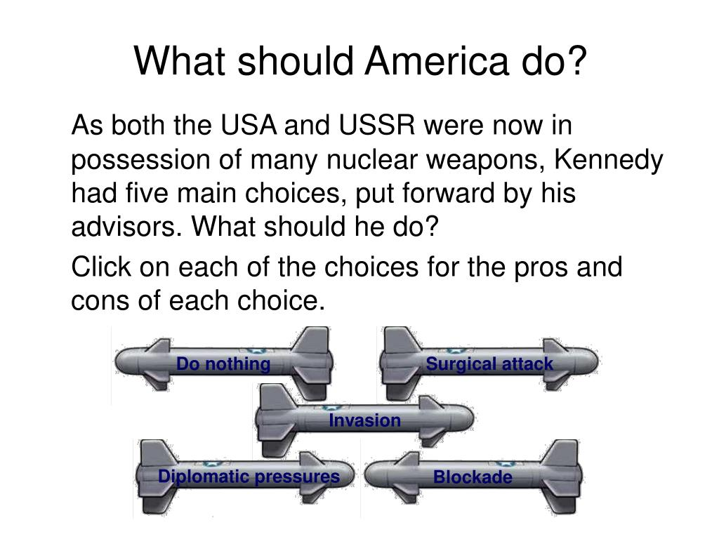 What should America do?