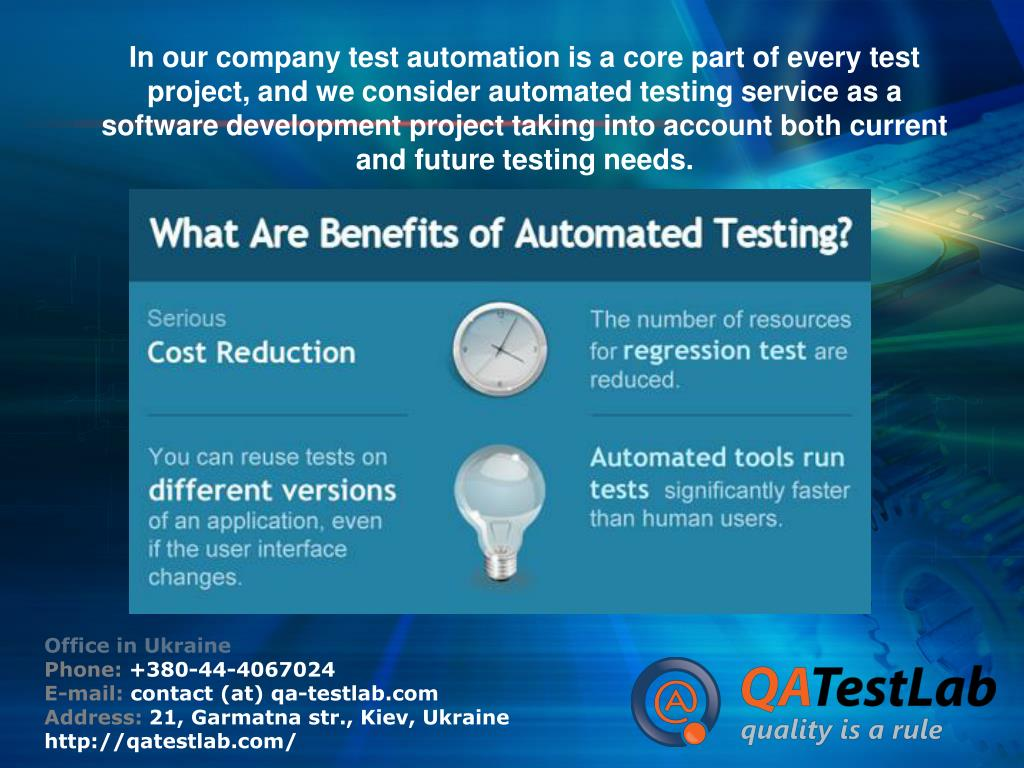 In our company test automation is a core part of every test project, and we consider