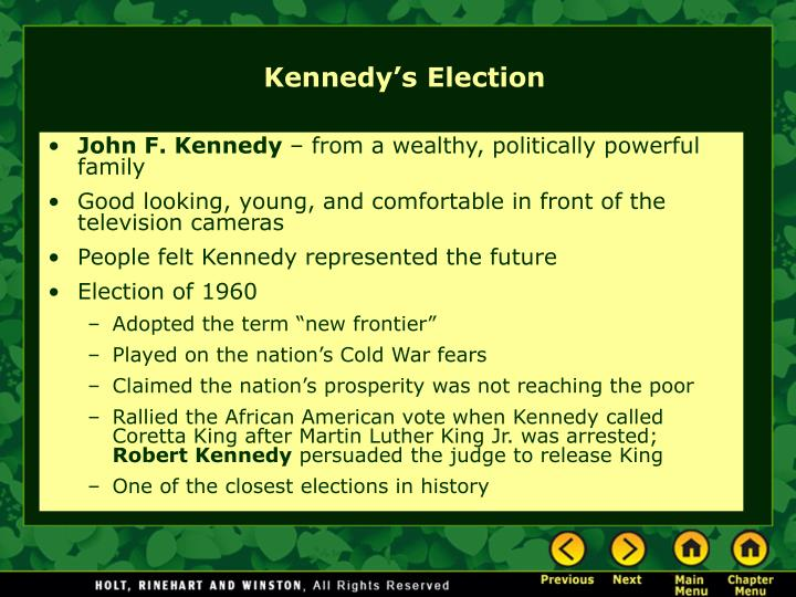 Kennedy s election