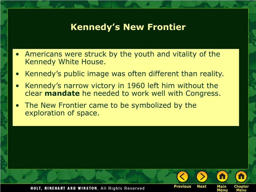 Americans were struck by the youth and vitality of the Kennedy White House.
